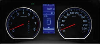 The Dashboard Setup in a Honda C-RV