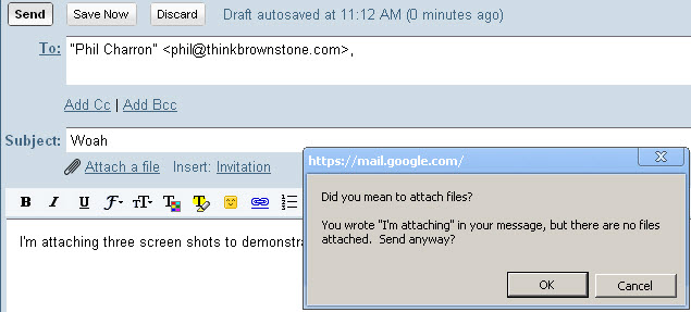 """Gmail's """"Did you mean to attach a file?"""" feature"""