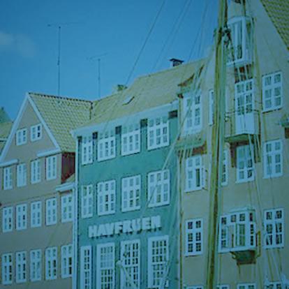 Houses near a dock