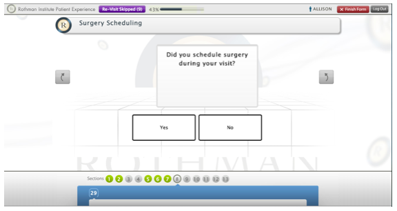 Surgery Scheduling Screen