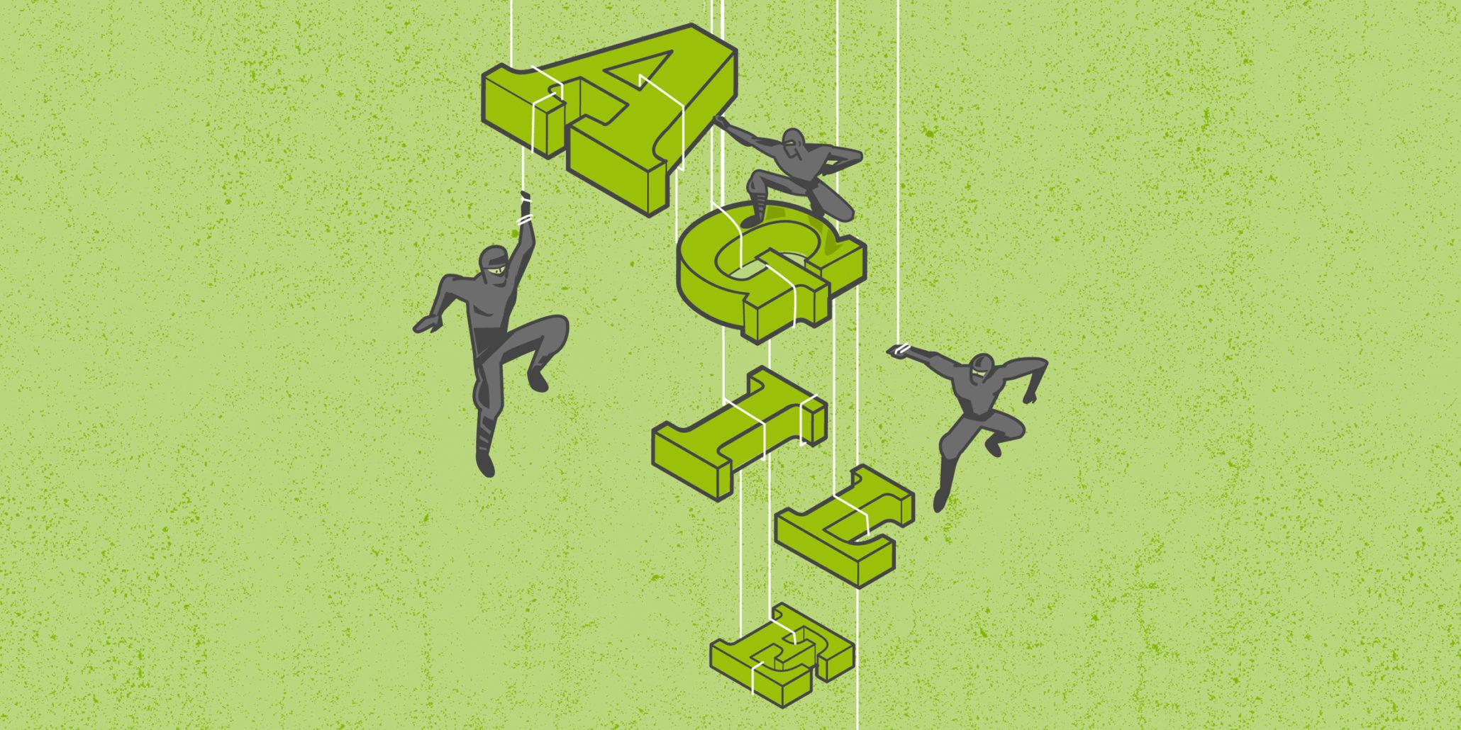 agile ninja illustration