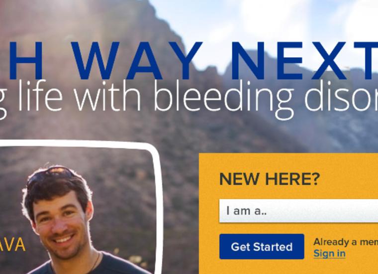 screenshot of hemophilia system web page