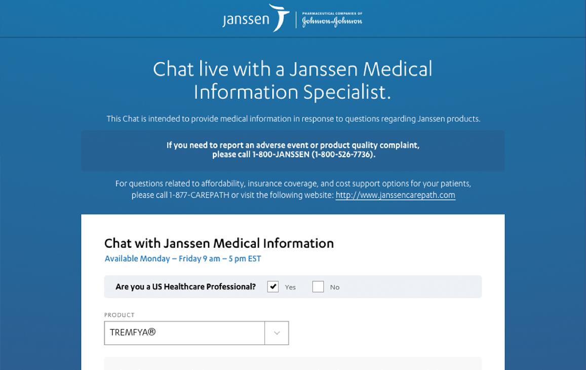 Mockup for a medical information portal