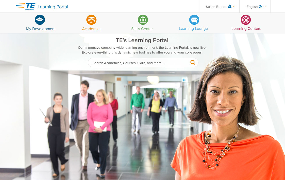 Learning Portal landing page