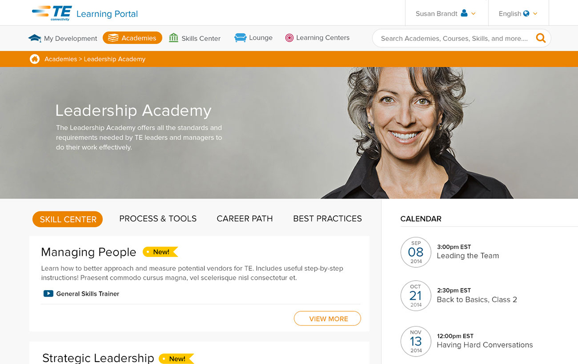 """Landing page for """"Academies"""""""