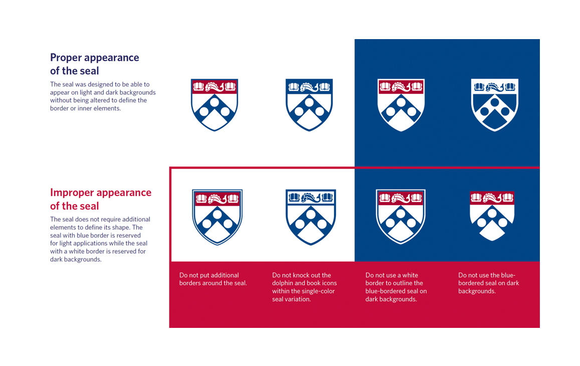 Branding Guidelines for the Wharton Seal