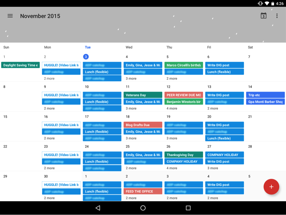 Calendar Apple : Apple and google calendars a design comparison think