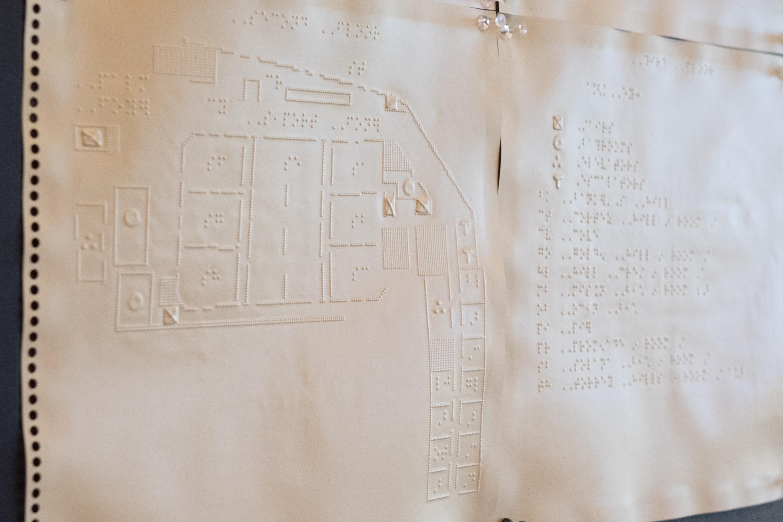CSUN Conference floorplan in braille
