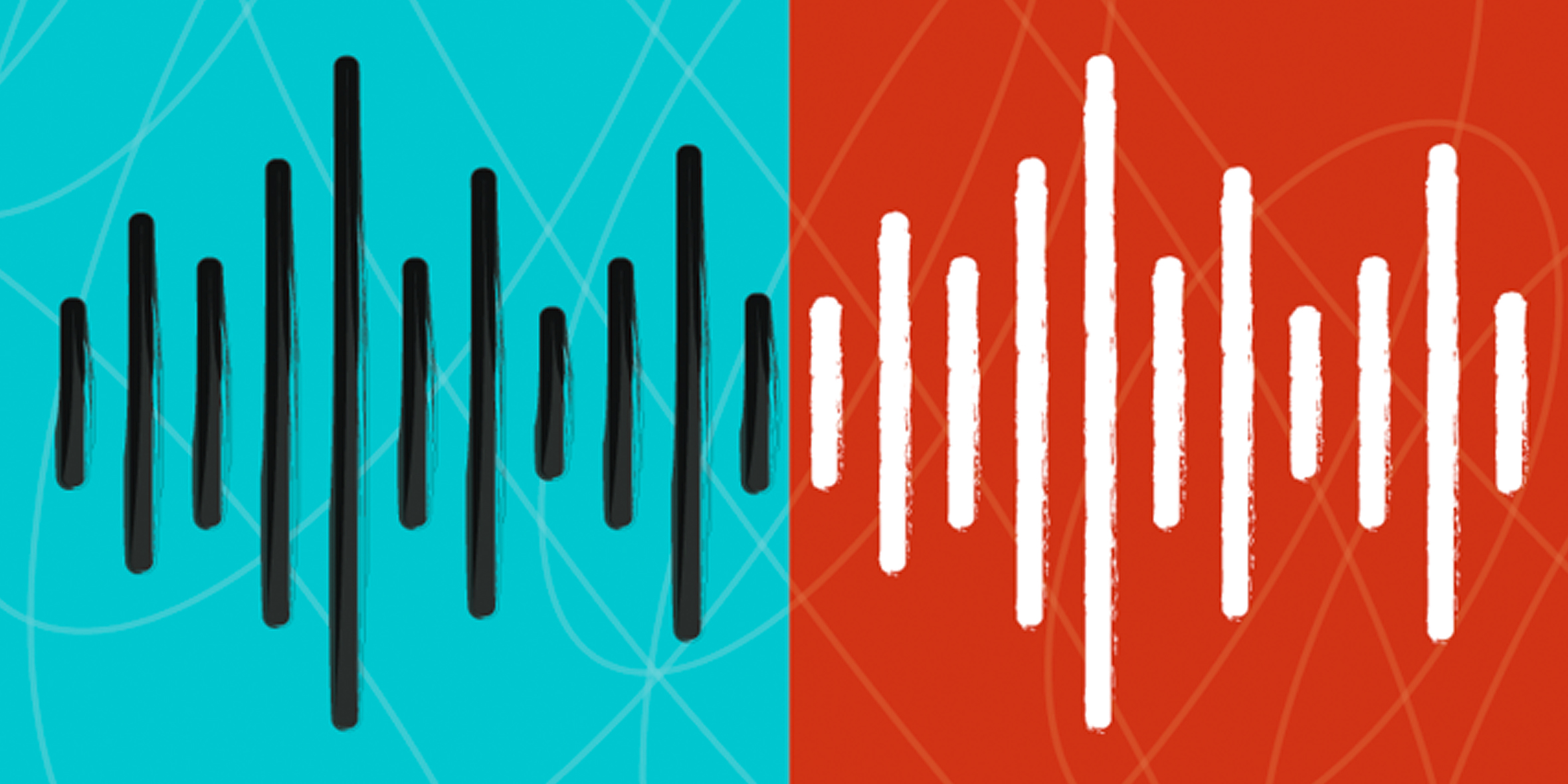 Stylized illustration of sound waves