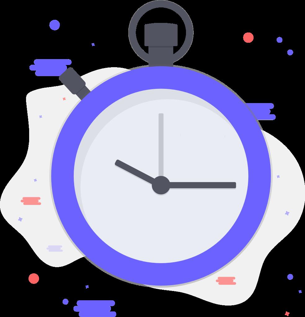 stopwatch ticking