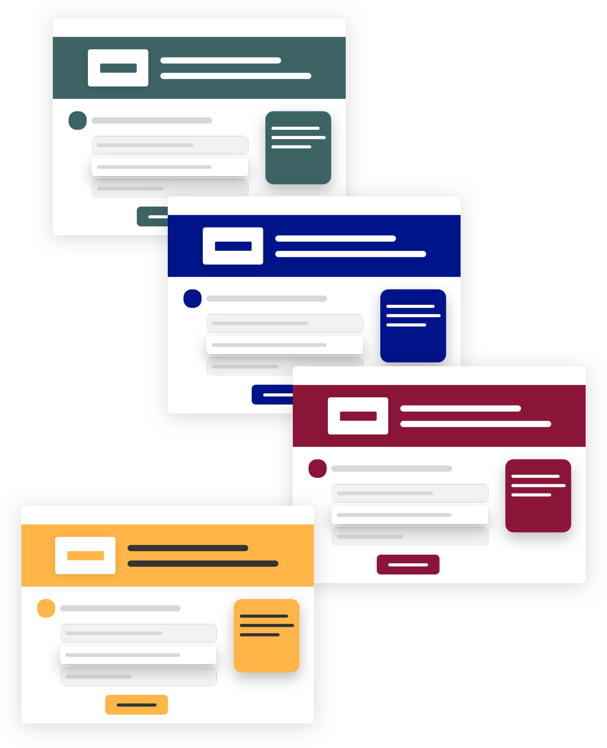 four consistent page layouts with customization