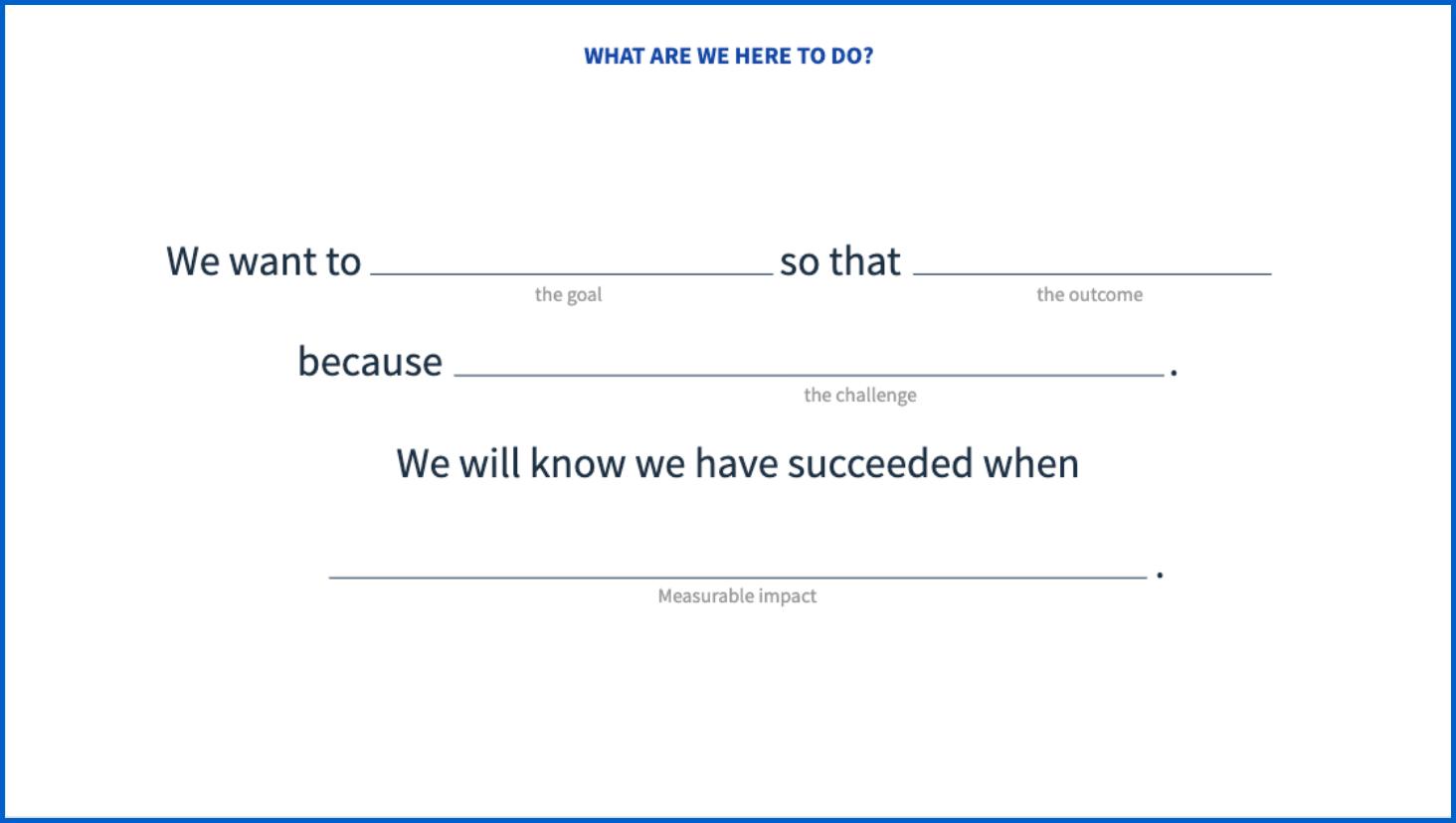 Purpose statement template
