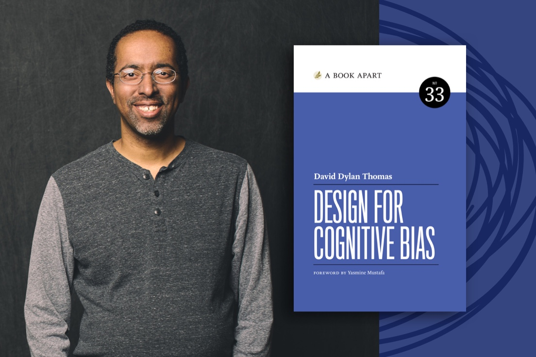 Thinker Dave Thomas with Design for Cognitive Bias book