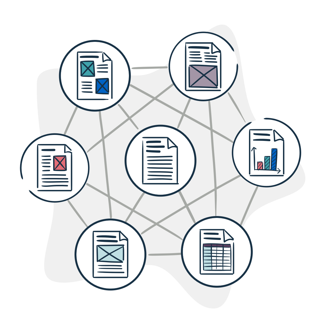 Illustration of decentralized content model drafting