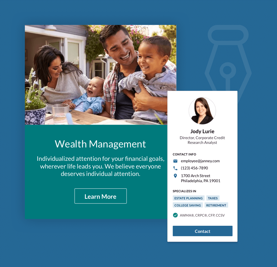 example wealth management tool screen