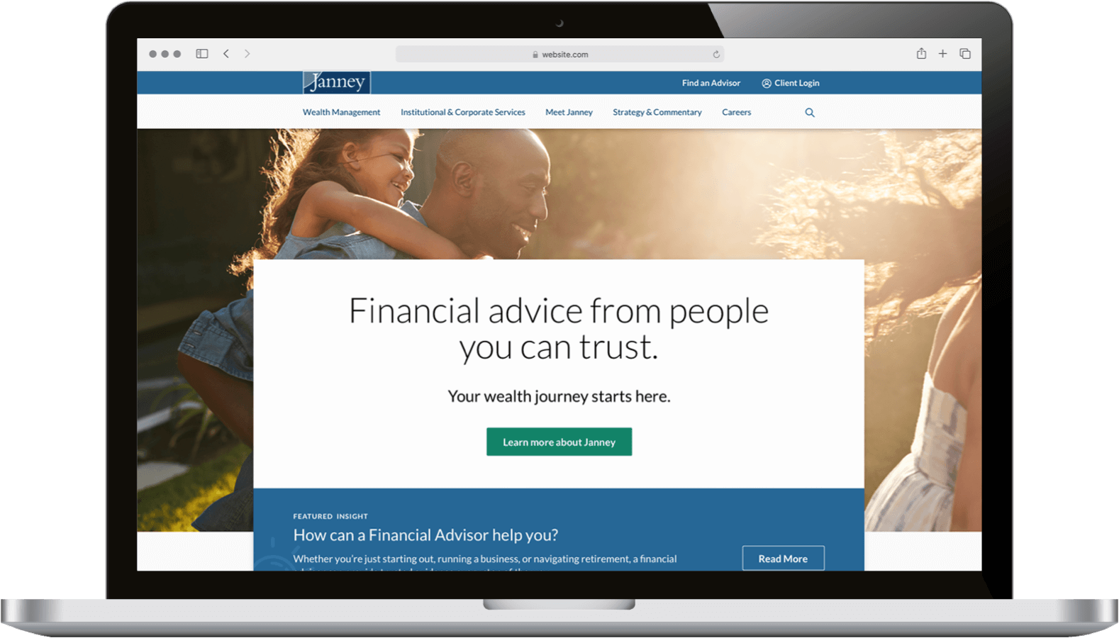 financial digital tool on laptop
