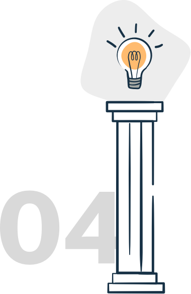 illustration of a pillar with a lightbulb on top
