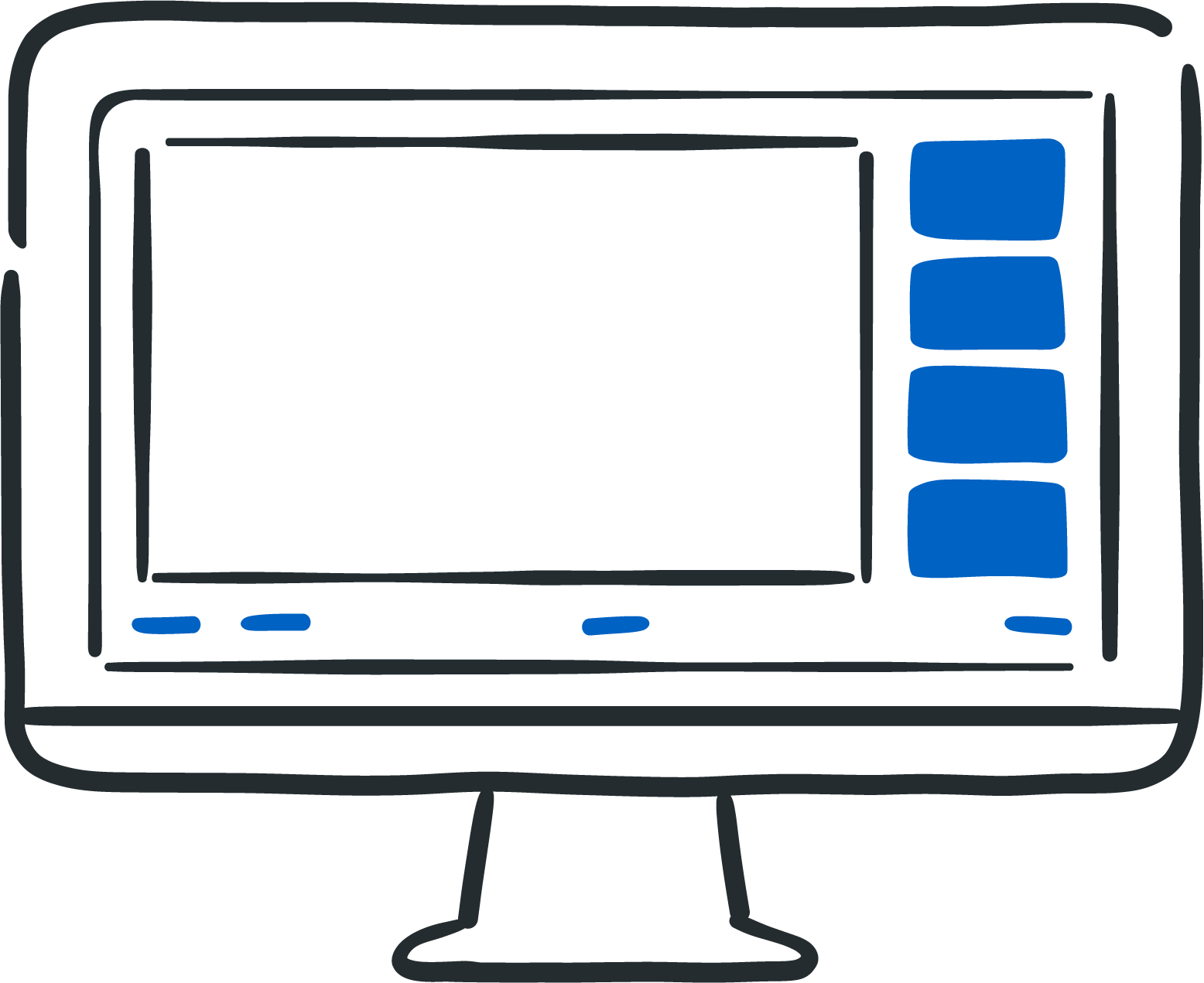 illustration of a desktop monitor with a zoom meeting in progress