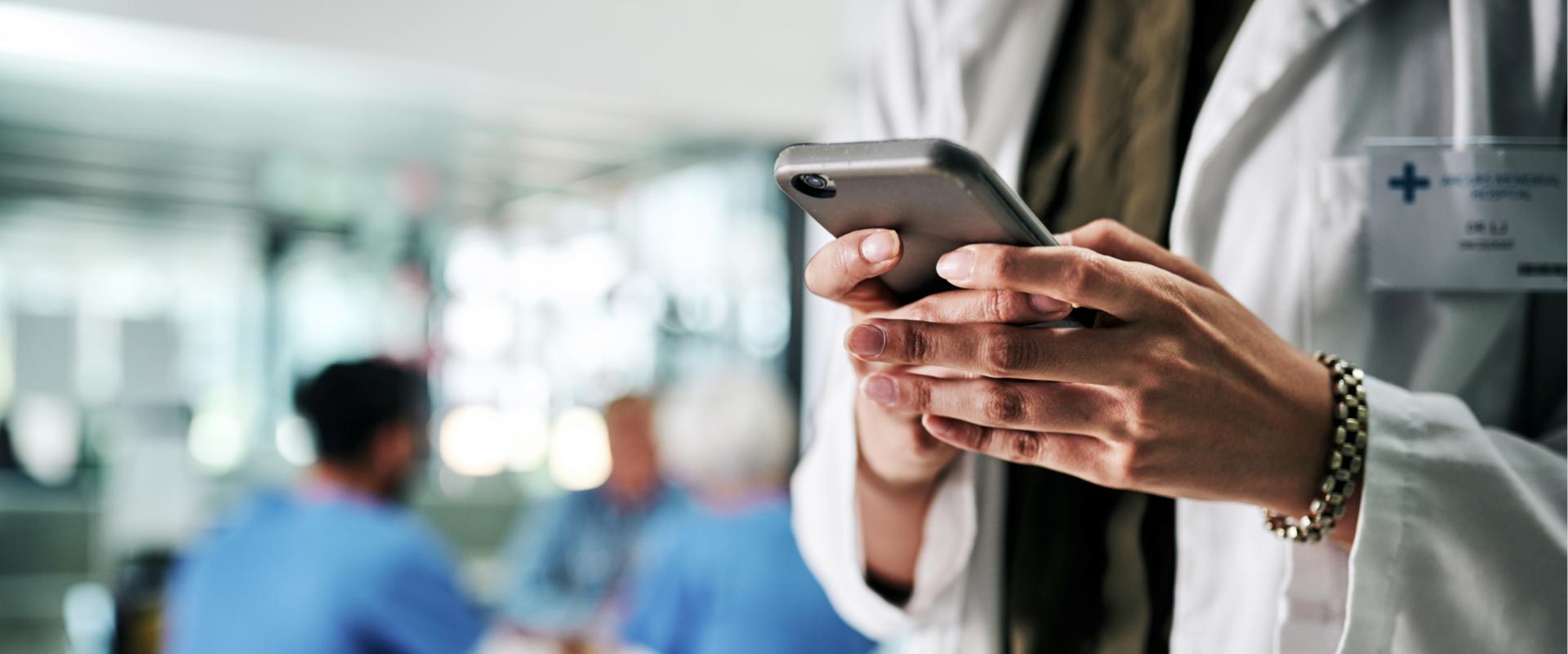 Health care provider using phone