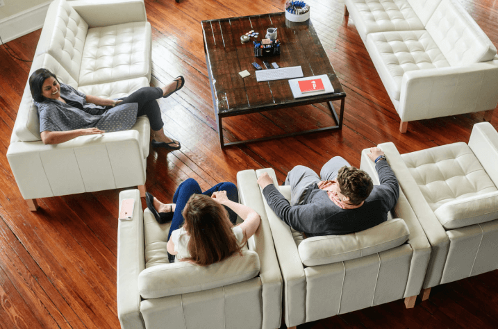 group of people sitting on couches in Conshohocken studio